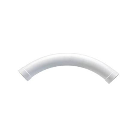 curva a largo raggio 45° per tubo a scomparsa
