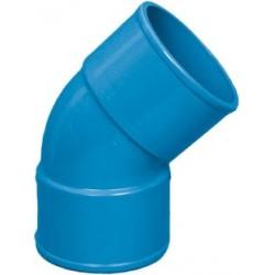 Curva a 45' F/F diam.50 a largo raggio blu