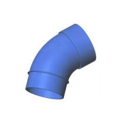 Curva a 45' M/F diam. 50 largo raggio blu